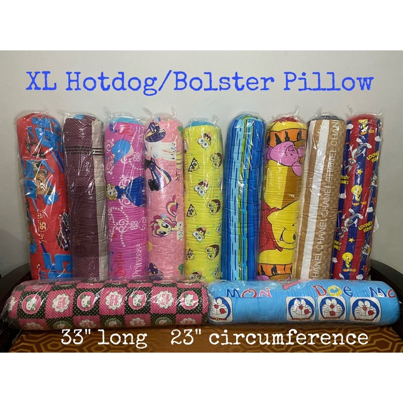 hotdog bolster pillow and bolster case xl 33 and small 25 with overlapped zipper