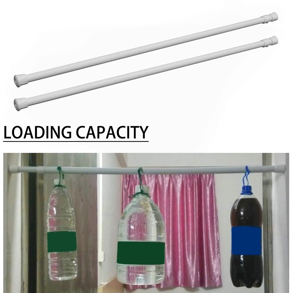 extendable window tension rod closet cabinet telescopic pole adjustable shower curtain rail