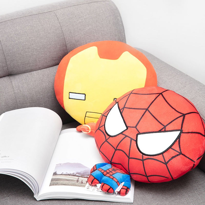 miniso famous product marvel series big head and small body spiderman captain america figure napping pillow