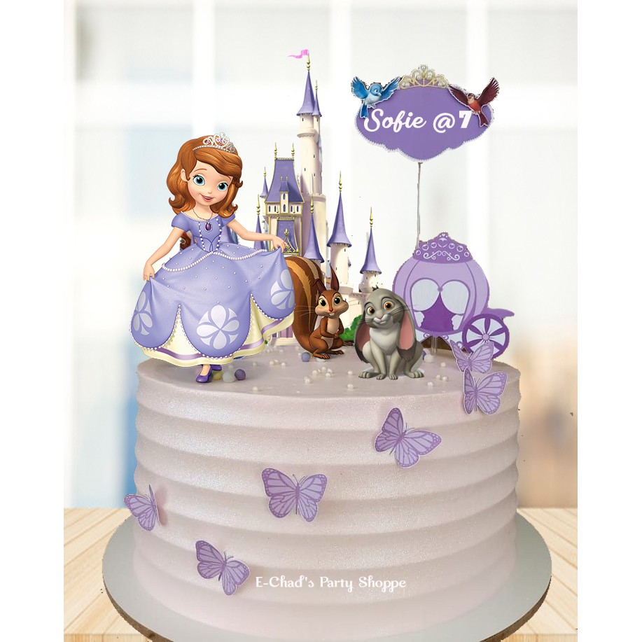 Sofia The First Cake Topper Set Free Customized Name Shopee Philippines
