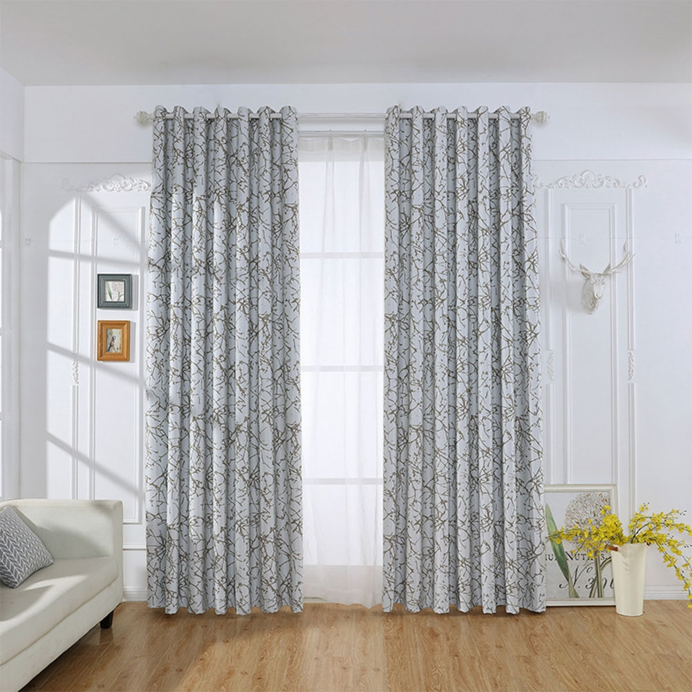 zhenl curtain polyester simple elegant style window curtain shade home bedroom living room kitchen c
