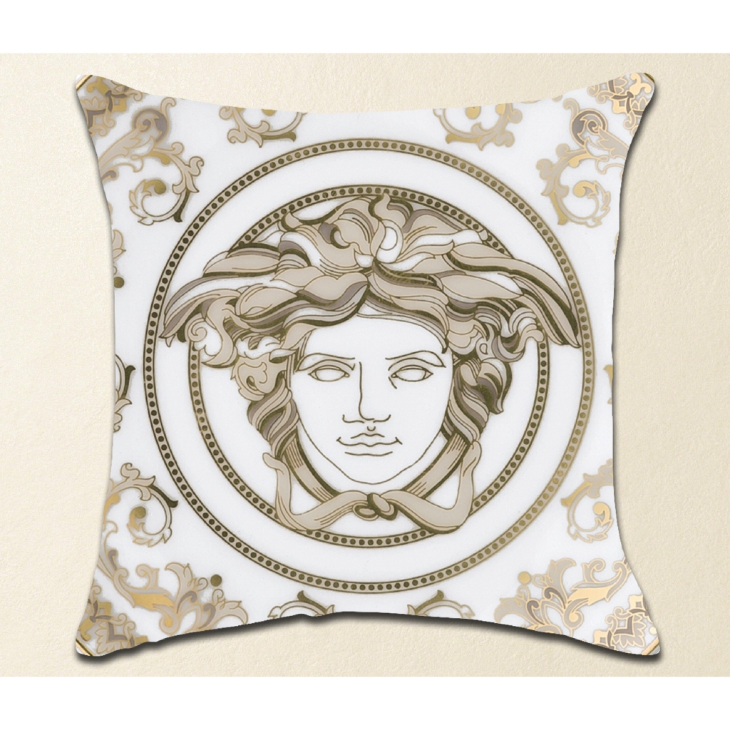 fashion versace logo home decorations custom zippered pillow case exclusive design home decor printed pillowcases sofa pillow covers