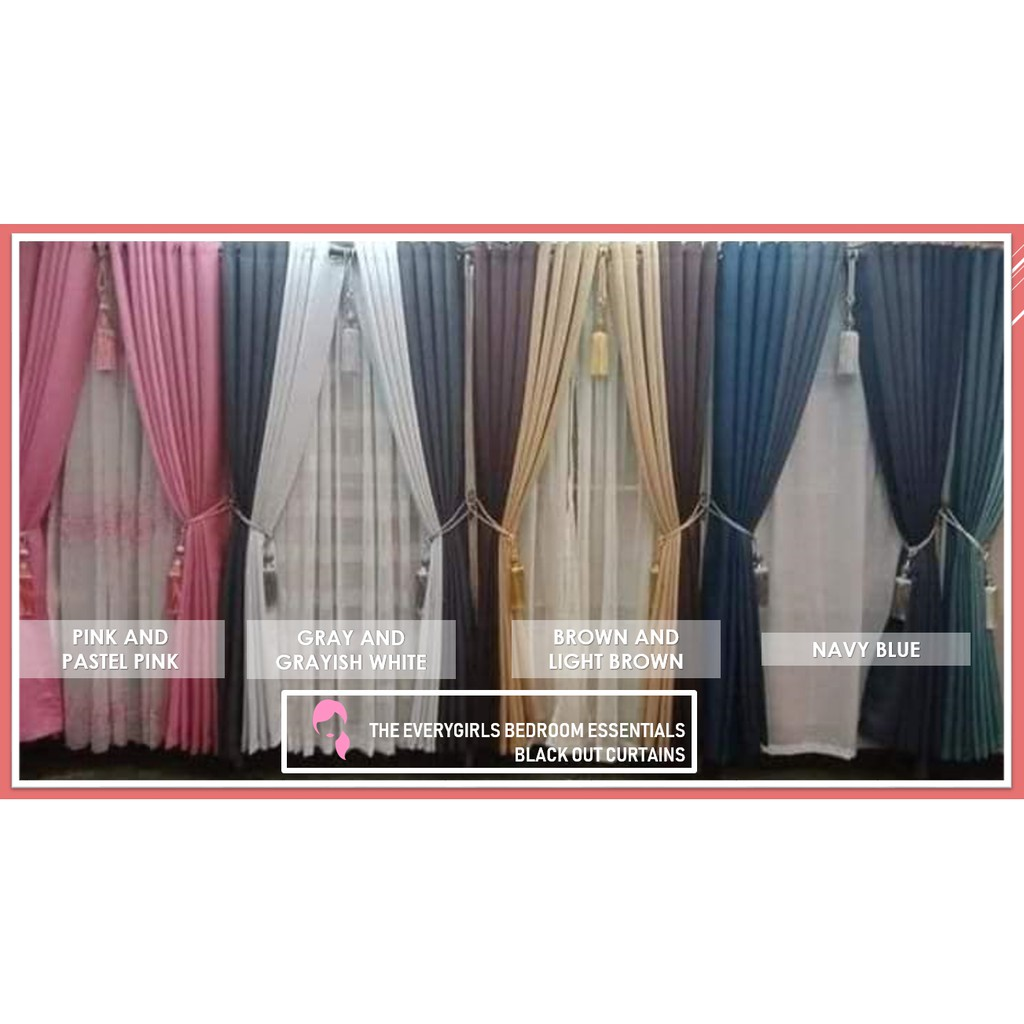 clearance sale black out curtains 7ft long