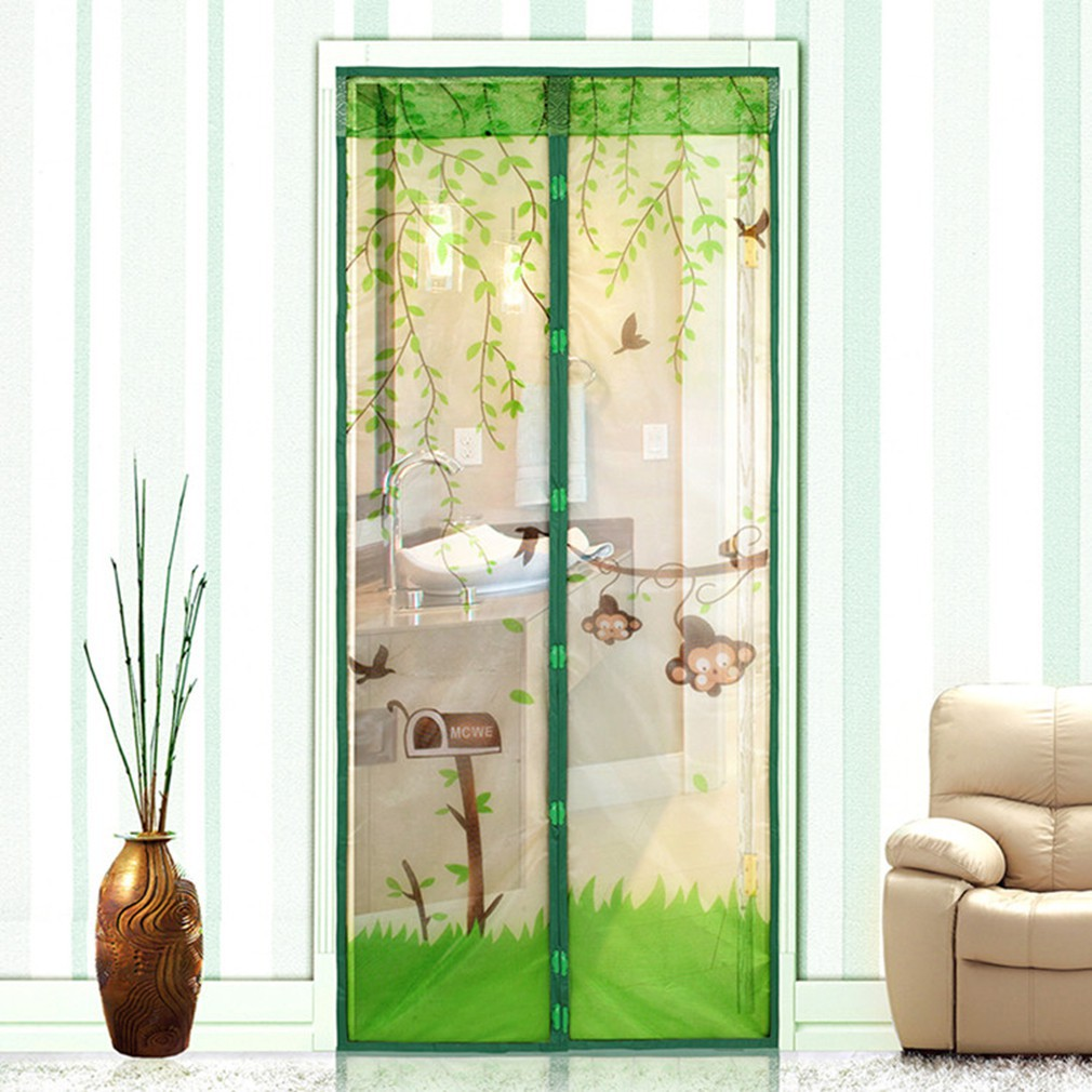 magnetic mesh screen door net curtain protect from insects