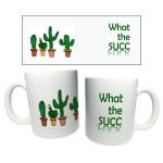 Ceramic Coffee Mugs With Permanent Cactus Succulent Design Shopee Philippines