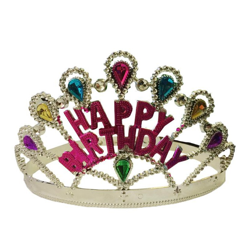 Dhendhenshop Happy Birthday Crown Tiara For Kids Princess Party Favor Girl Birthday Party Shopee Philippines
