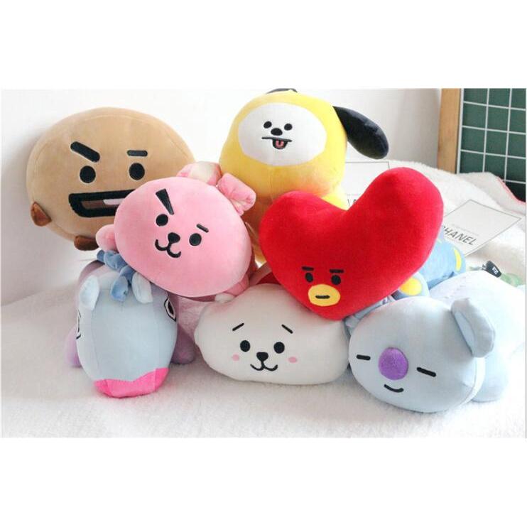 bts pillow bt21 sleeping pillow cute tata cooky mang plush pillow toy