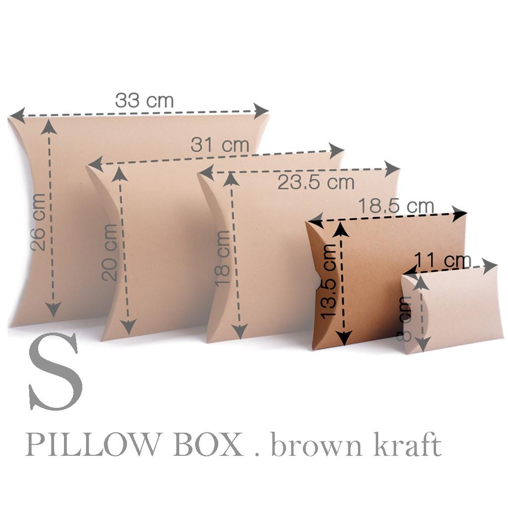 price 10pcs pillow box s small size 13 5x18 5 cm brown kraft paper box paper packaging