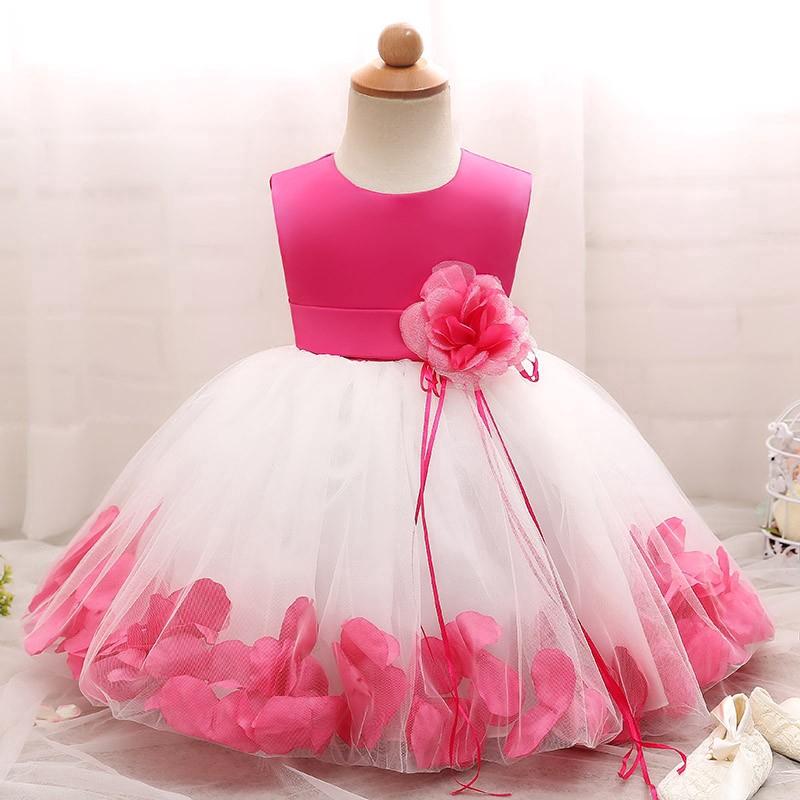 Fairy Petals Baby Girl 1st Birthday Party Dress Tutu Newborn Girls Kids Clothes Shopee Singapore