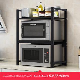 kitchen shelf multi layer cabinet storage rack tabletop electric rice cooker oven microwave shelf