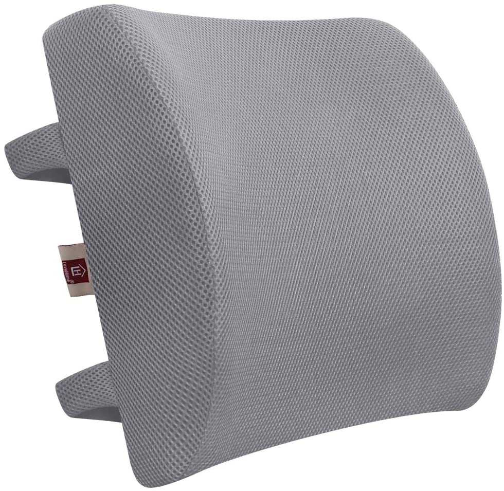 memory foam lumbar support back cushion with 3d mesh cover balanced firmness designed for lower back pain relief ideal back pillow for