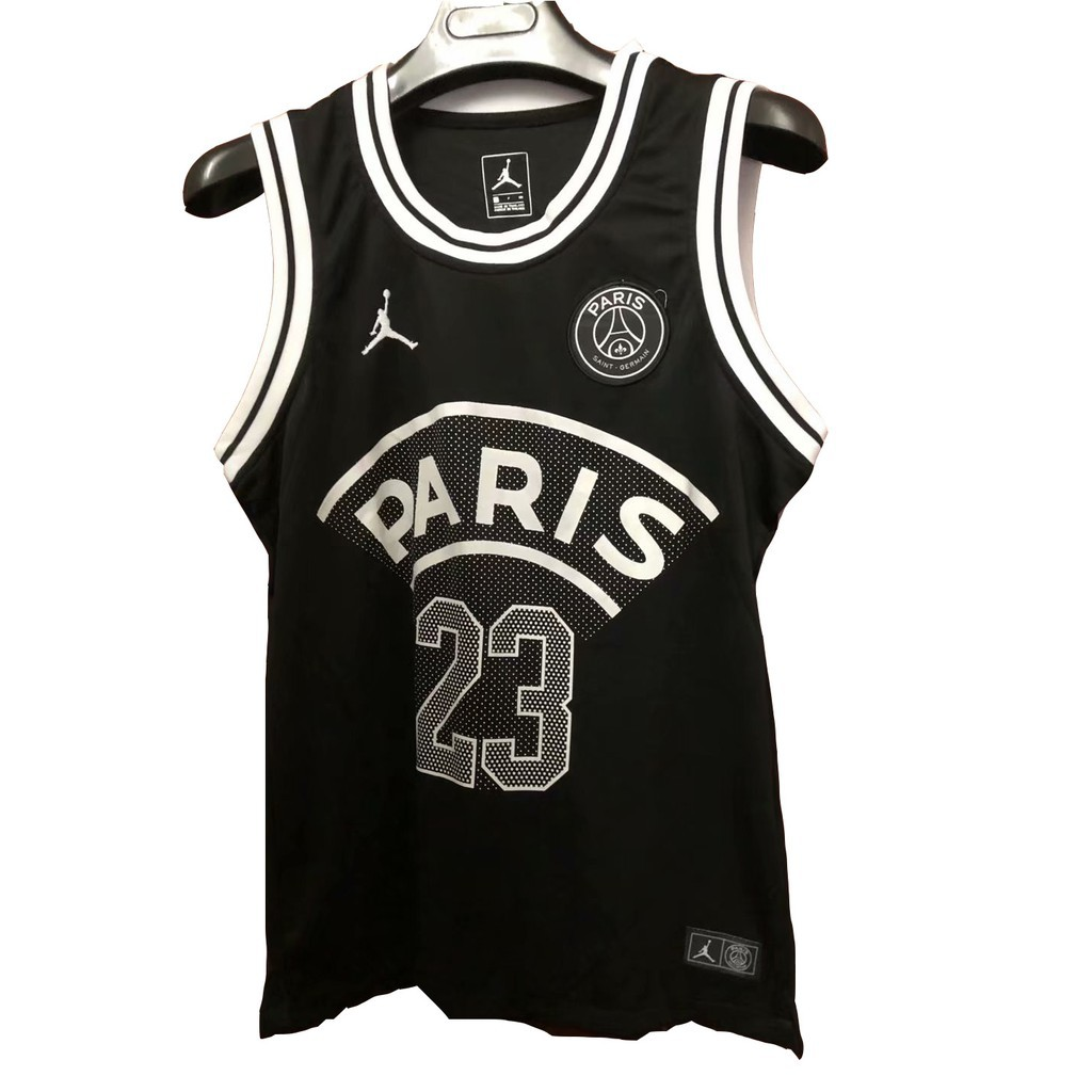 sale 18 19 23 jordan x paris saint germain black vest soccer jersey