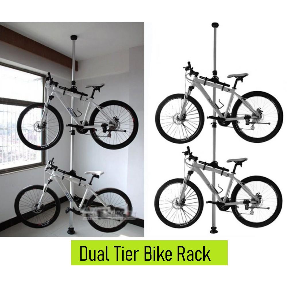 dual bike rack bicycle rack dual bicycle space chrome bike rack bicycle essential space saving