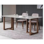 Tmdt 23 Marble Table W Solid Wood Leg Shopee Singapore