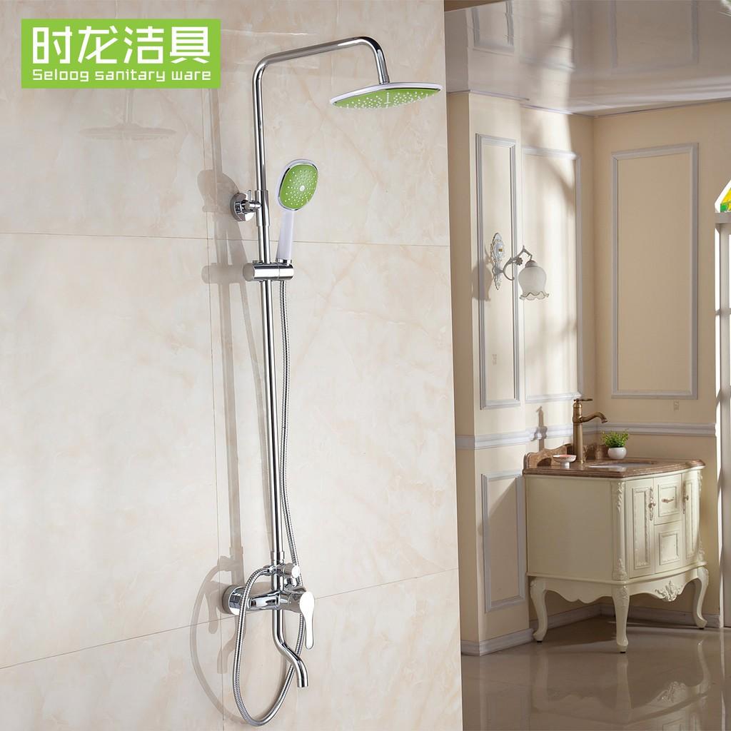 Shilong Brass Colorful Shower Sun Shower Set Rain Shower With Water White Green