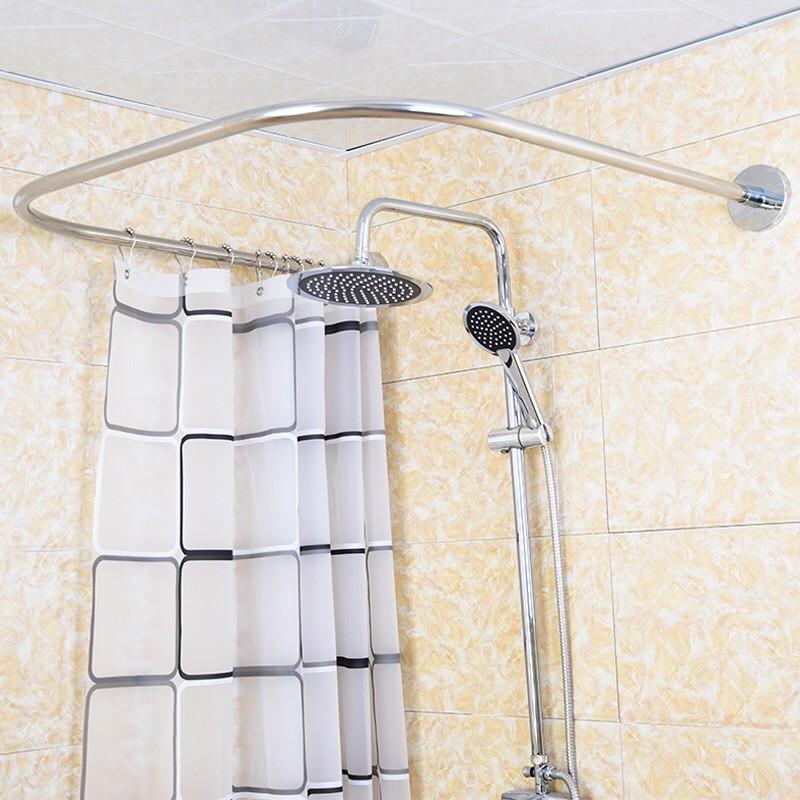 shower curtain rod set u shaped bath curtain rod bathroom partition