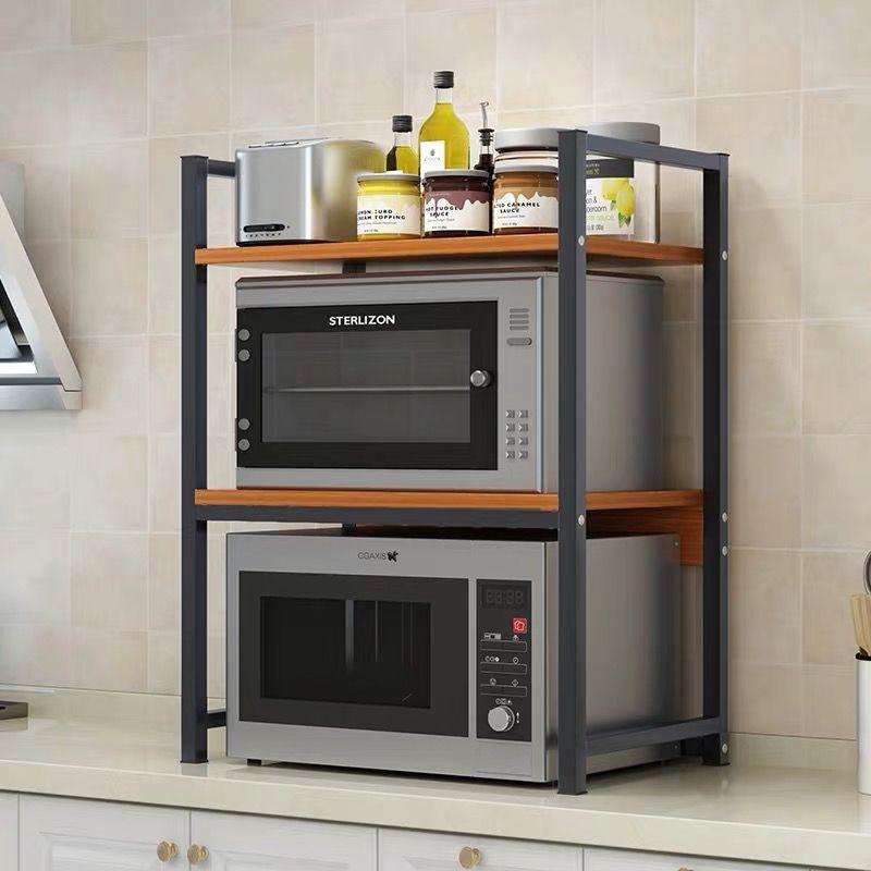 kitchen microwave rack shelf rack microwave shelf oven rack kitchen shelf microwave shelf black desktop countertop rack oven shelf double kitchen