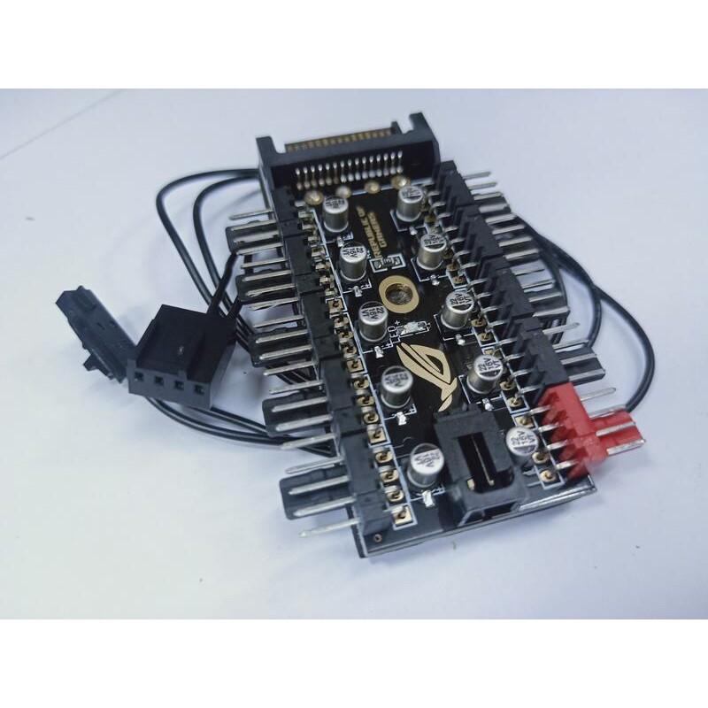 【環島科技】ROG主板4Pin/針PWM集線器FAN HUB電腦溫控調速板機箱四線風扇控制器 | 蝦皮購物