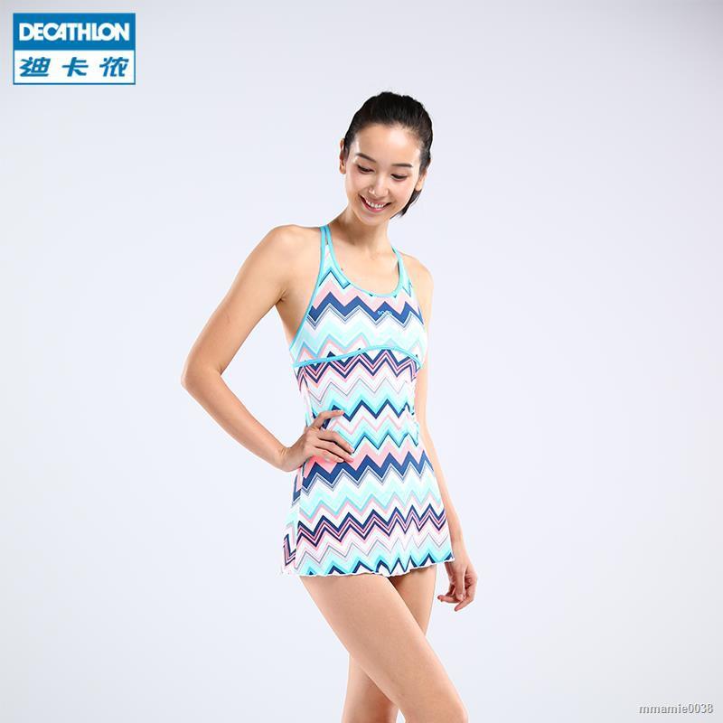 下殺☑迪卡儂泳衣女連體游泳衣保守裙式泳裝溫泉顯瘦遮肚性感NAB Z1 | 蝦皮購物