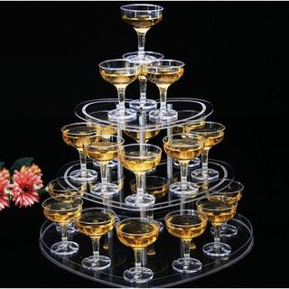 爆款熱賣#亞克力香檳杯加厚塑膠高腳杯婚禮香檳塔杯子   蝦皮購物