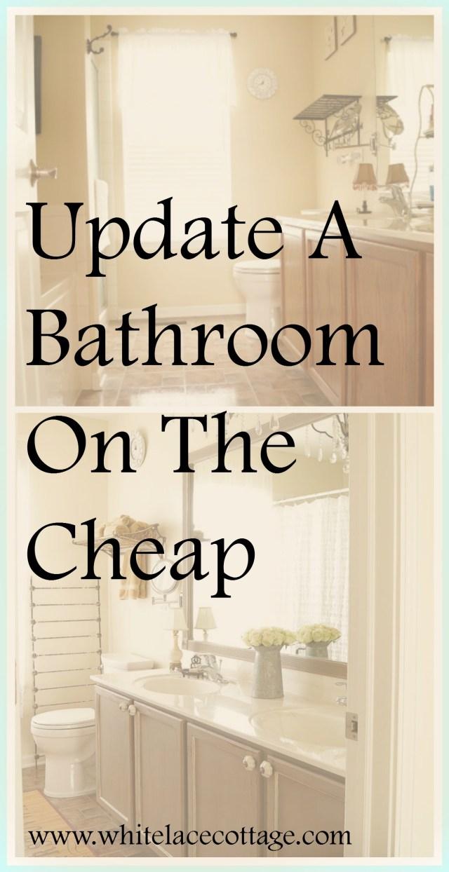 DIY Bathroom Mirror Frame Update White Lace Cottage