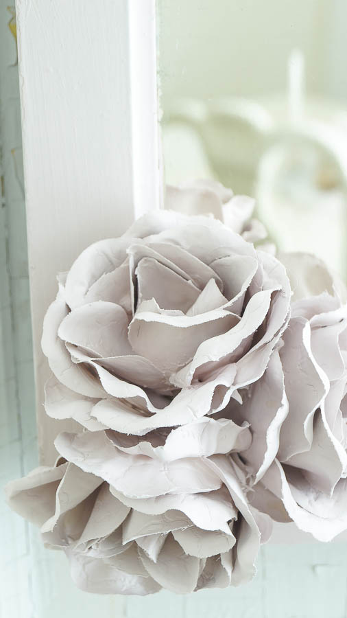 Porcelain Roses From Chalk Paint White Lace Cottage