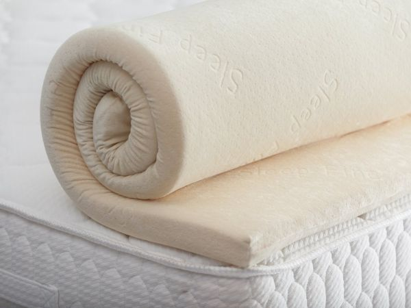 Memory Foam Visco Mattress Topper With Removable Luxurious Velour Cover 180 X 200 5 Cm