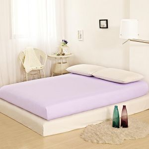 Pz Double Full Size Egyptian Cotton Solid Pattern Purple Mattress Toppers