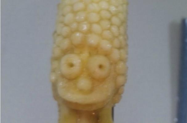 Foodista Marge Simpson Banana Sculpture