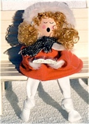 Angelic Wooden Holiday Doll