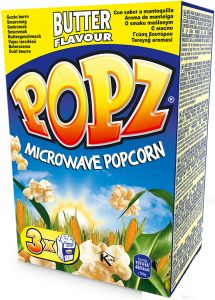 popz cheese microwave popcorn 3 pack 255 gm