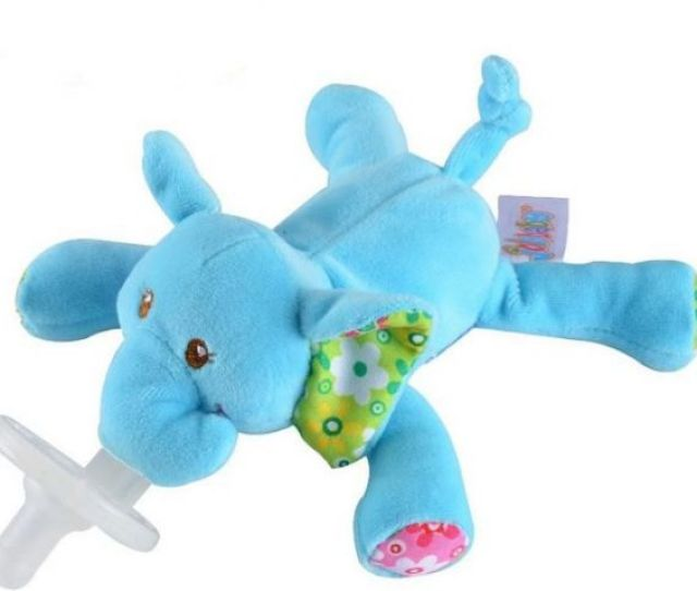 Wubbanub Infant Pacifier Elephantblue