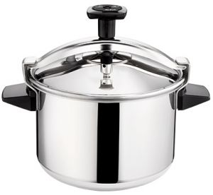 Tefal Stainless Steel Authentique Pressure Cooker 10 Liter Silver P0531634