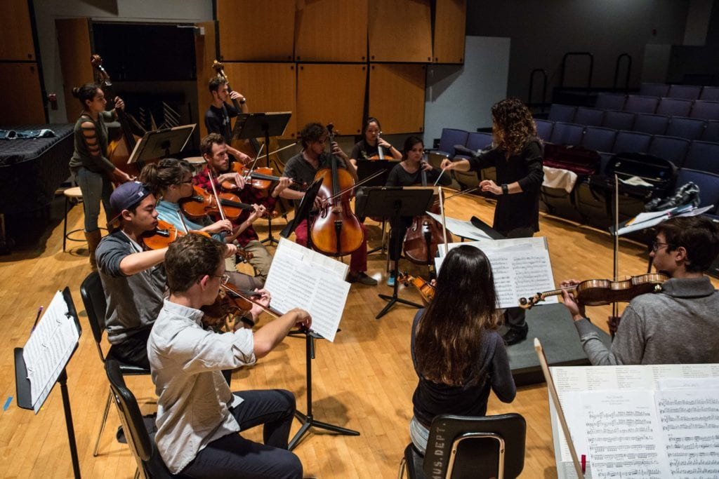 LMU Chamber Orchestra rehearsal