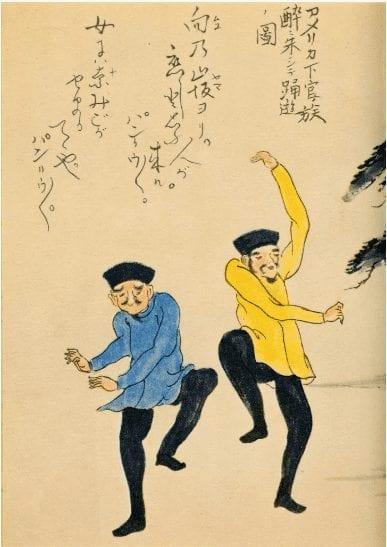 Dancing Sailors scroll painting