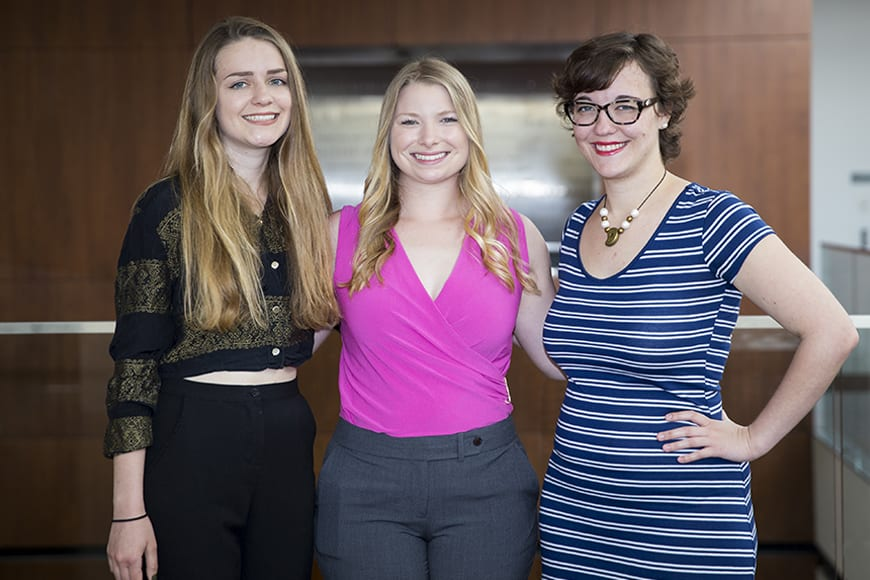 winnerschickendinner - CFA Students Honored with Undergraduate Library Research Awards