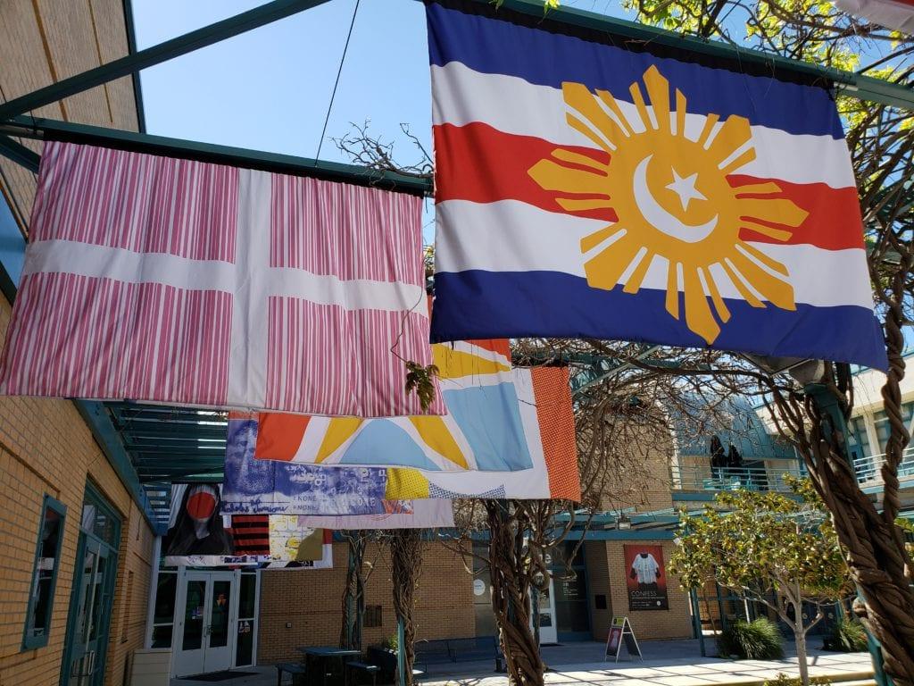 "Dreamwavers1 - Laband Art Gallery Presents ""Dream Wavers,"" an Installation of Artist-Designed Flags"
