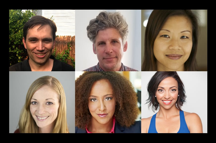Compilation photo of six new faculty members