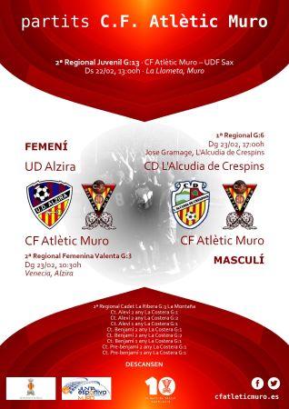 Read more about the article Partits davant l'UD Alzira i el CD L'Alcudia de Crespins