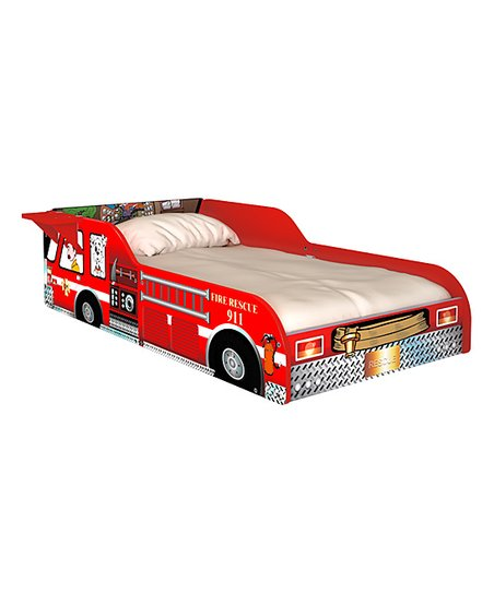 rack furniture red fire truck toddler bed