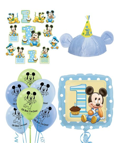 Disney Baby Mickey Mouse 1st Birthday Decorating Set Best Price And Reviews Zulily
