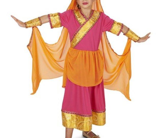 Dream Weaver Collection Pink Orange Hindi Cinema Glamour Costume