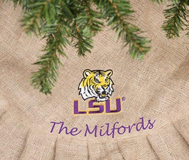 Lsu Tigers Personalized Tree Skirt