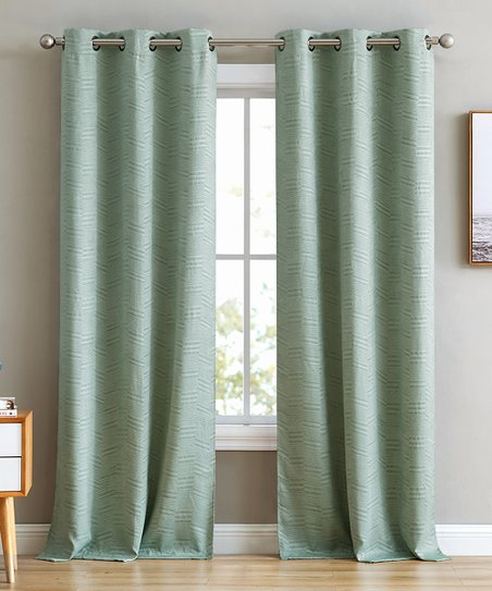 hlc me mint green blackout curtain panel set of two