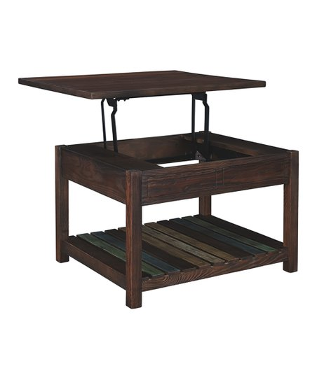 signature design by ashley furniture brown lift top coffee table
