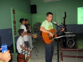Bro. Ed Concepcion led the music ministry