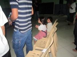 Even the kids like to worship