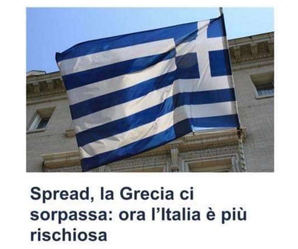Spread, l'Italia è più rischiosa della Grecia.