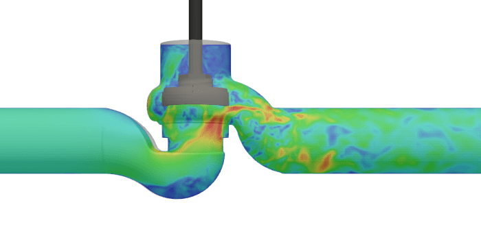 Valve simulation valve design