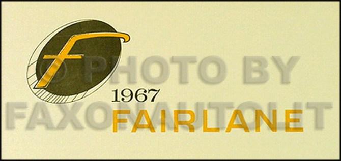 1967 ford fairlane  ranchero wiring diagram manual reprint